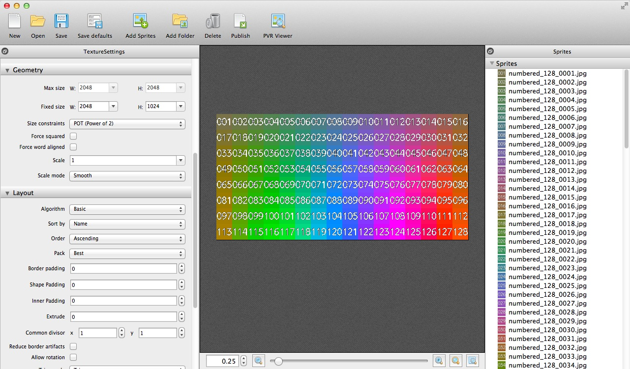 Making an image grid using Texture Packer