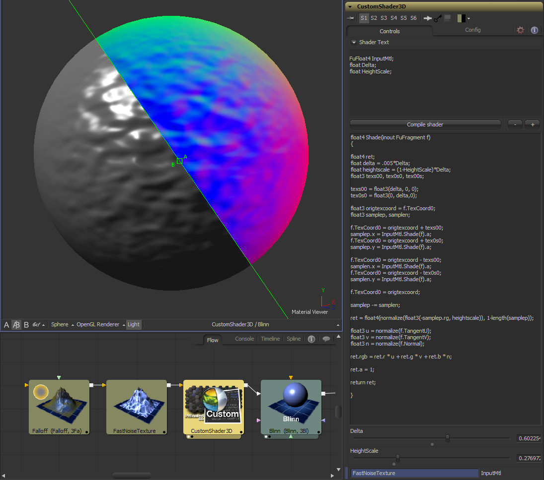 Create bump maps from materials, not just images. (click to magnify)
