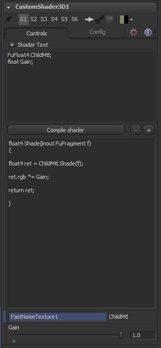 3CuS Controls tab